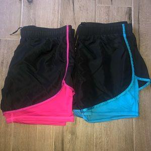 Réflex 2 in 1 Workout Shorts. 2 pair Bundle.